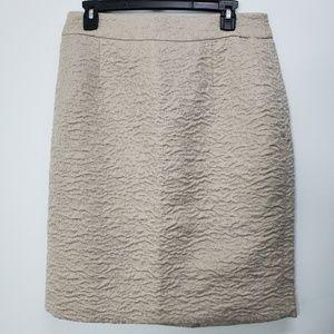 Banana Republic Ivory Metallic Textured Skirt NWT